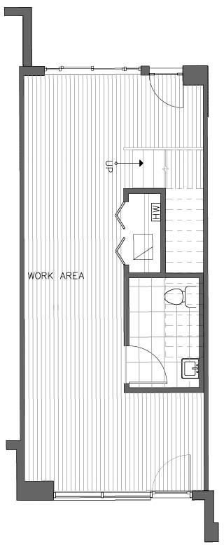First Floor Plan of the Lodgepole Floor Plan in The Pines at Northgate