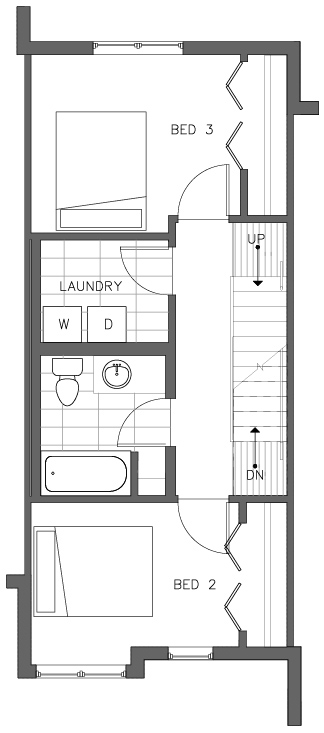 Third Floor Plan of the Lodgepole Floor Plan in The Pines at Northgate
