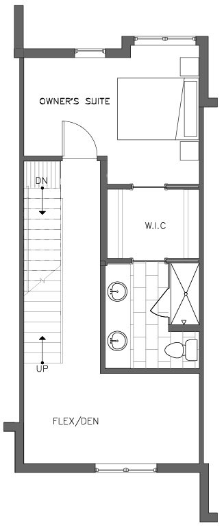 Fourth Floor Plan of the Lodgepole Floor Plan in The Pines at Northgate