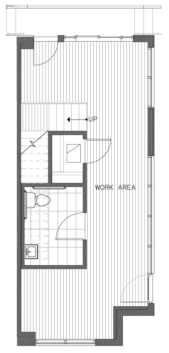 First Floor Plan of the Ponderosa Floor Plan at The Pines at Northgate