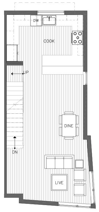 Second Floor Plan of the Ponderosa Floor Plan at The Pines at Northgate