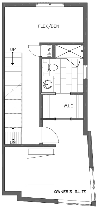 Fourth Floor Plan of the Ponderosa Floor Plan at The Pines at Northgate