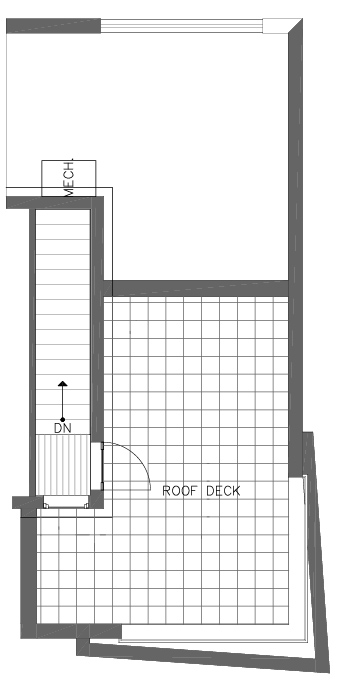 Roof Deck Floor Plan of the Ponderosa Floor Plan at The Pines at Northgate
