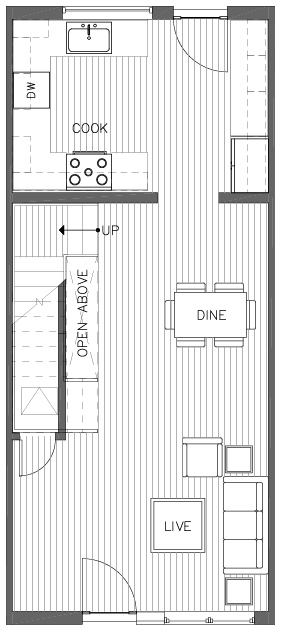 First Floor Plan of the Bristlecone Floor Plan in The Pines at Northgate