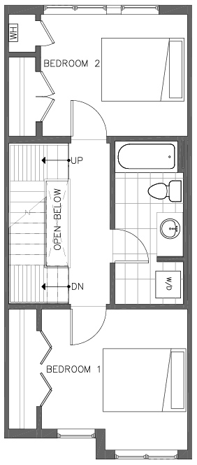 Second Floor Plan of the Bristlecone Floor Plan in The Pines at Northgate