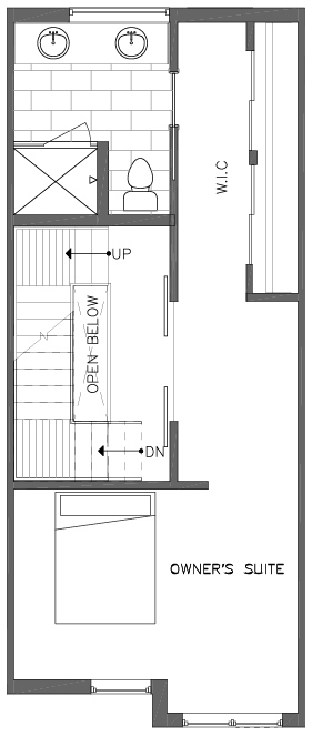 Third Floor Plan of the Bristlecone Floor Plan in The Pines at Northgate