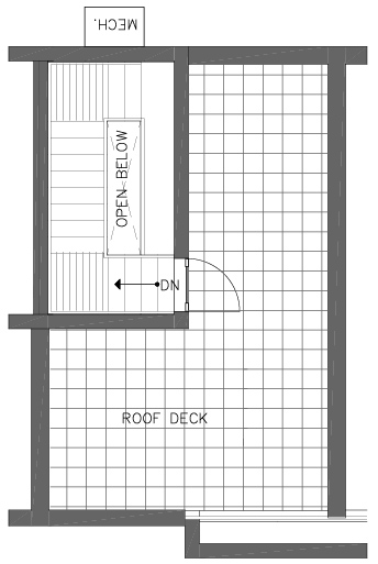 Fourth Floor Plan of the Bristlecone Floor Plan in The Pines at Northgate