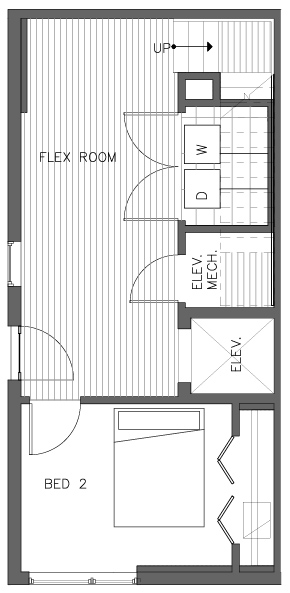 First Floor Plan of the Cedar Floor Plan in The Pines at Northgate