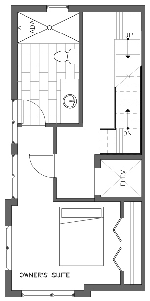 Fourth Floor Plan of the Cedar Floor Plan in The Pines at Northgate