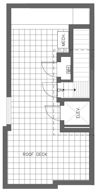 Fifth Floor Plan of the Cedar Floor Plan in The Pines at Northgate