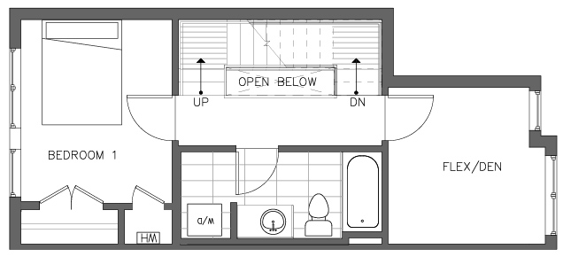 Second Floor Plan of the Foxtail Floor Plan in The Pines at Northgate