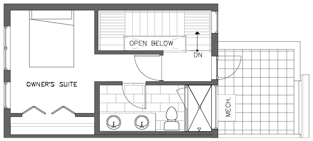Third Floor Plan of the Foxtail Floor Plan in The Pines at Northgate