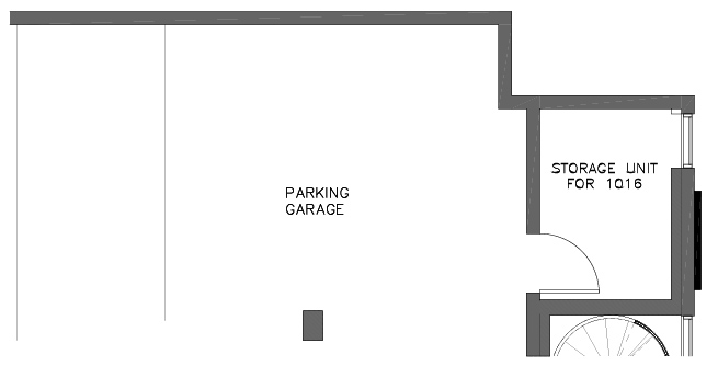 Garage Storage Plan of the Foxtail Floor Plan in The Pines at Northgate