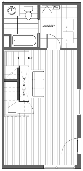 First Floor Plan of the Monterey Floor Plan in The Pines at Northgate