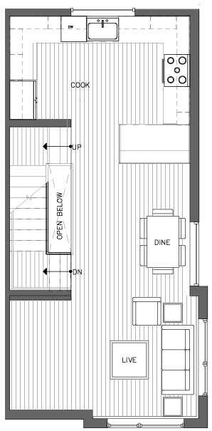 Second Floor Plan of the Monterey Floor Plan in The Pines at Northgate