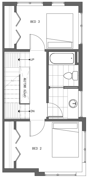 Third Floor Plan of the Monterey Floor Plan in The Pines at Northgate
