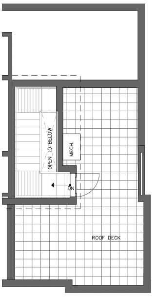 Fifth Floor Plan of the Monterey Floor Plan in The Pines at Northgate