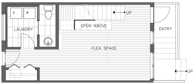 First Floor Plan of the Pinyon Floor Plan in The Pines at Northgate