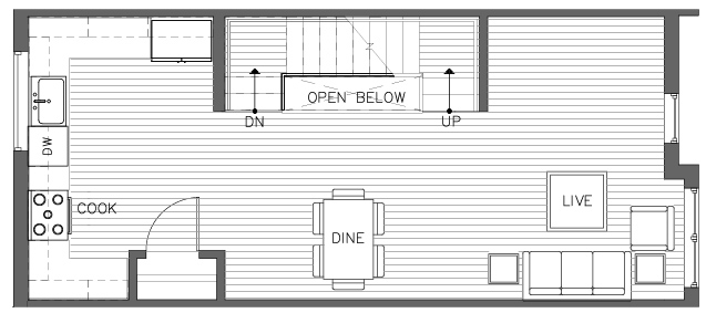 Second Floor Plan of the Pinyon Floor Plan in The Pines at Northgate