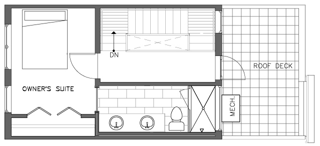 Fourth Floor Plan of the Pinyon Floor Plan in The Pines at Northgate