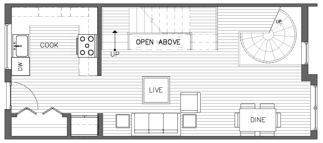 Second Floor Plan of the Torrey Floor Plan in The Pines at Northgate
