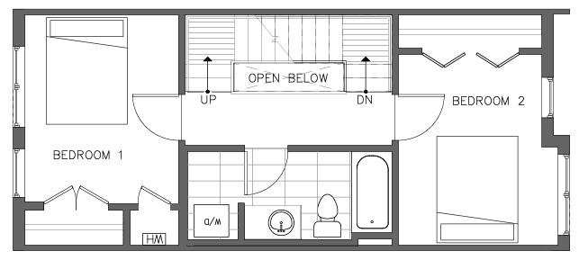 Third Floor Plan of the Torrey Floor Plan in The Pines at Northgate