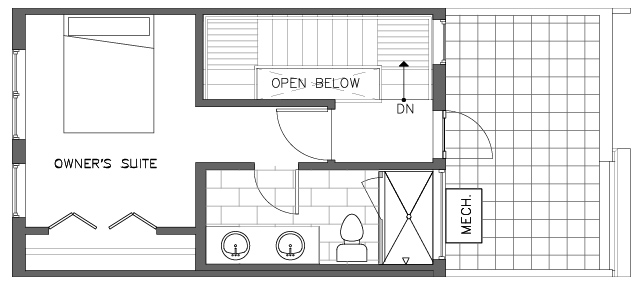Fourth Floor Plan of the Torrey Floor Plan in The Pines at Northgate