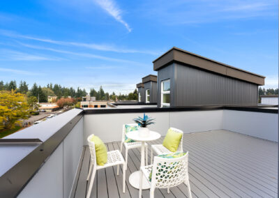 Roof Deck at 11206 Pinehurst Way NE, One of the Homes in The Pines at Northgate